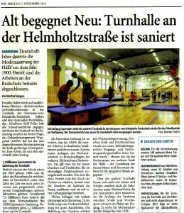 2012-12-07 Artikel Turnhallensanierung (WZ)