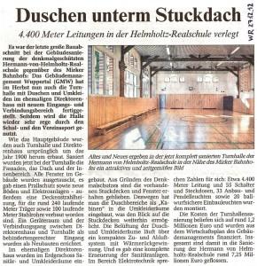 2012-12-27 Artikel Turnhallensanierung (WR)