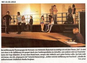 2013-02-22 Artikel Theateraufführung Tempo! (WZ)