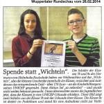 2014-02-26 Artikel UNICEF-Spende (WR)